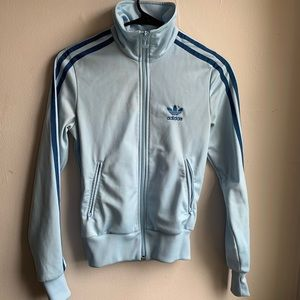 Light Blue Adidas Track Jacket